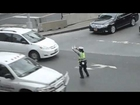 Dancing policewoman in New York