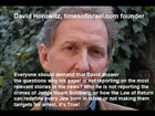 David Horowitz Times of Israel Editor in Cheif