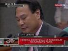 QRT: Corona, emosyonal sa pagbibbigay ng kanyang panig
