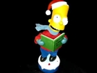 Caroling Bart Simpson/Talking Singing Animated Christmas Figure Gemmy 2002
