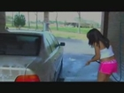 Wet & Fun: Cute Latina Washes Car - Part 2