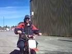 donuts avec un motocross pit bike electrique EC500s