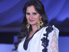 Hot Sania Mirza Look Gorgeous In White Gown