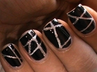 Striping tape nail art tutorial for beginners DIY at home Designs striping tape short/long nails